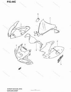 Suzuki Motorcycle 2002 Oem Parts Diagram For Cowling Body