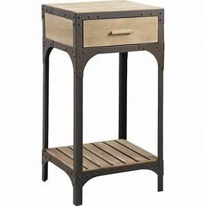 Petit Meuble Metal : petit meuble en bois et metal achat vente console petit meuble en bois et metal cdiscount ~ Teatrodelosmanantiales.com Idées de Décoration