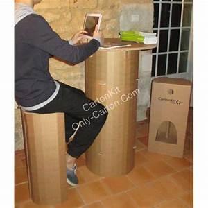 Table Haute en Carton Mange Debout Mobilier en Carton