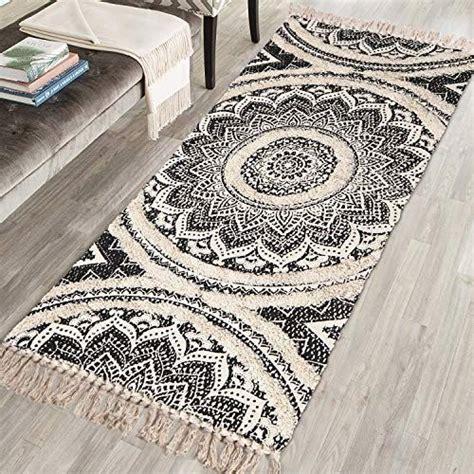 mandala tufted cotton area rug    kimode woven