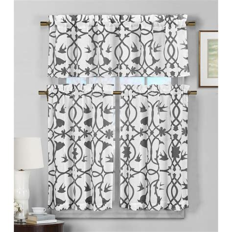duck river dawn dark grey faux linen kitchen curtain