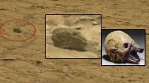 Alien Helmet or Skull and Tiny Alien spotted on Mars? |UFO ...
