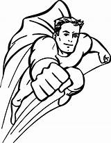 Coloring Pages Superhero Superheroes Clipartmag sketch template