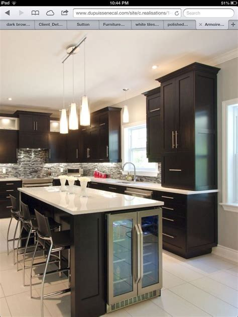 kitchen island with wine cooler   Kitchen in 2018