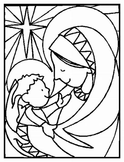 Coloring Bible Pages Jesus Town Christmas