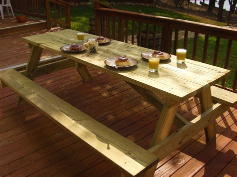woodworking plans   large picnic table