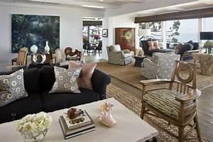 Le tapis jonc de mer pour le salon classique en 60 belles for Tapis jonc de mer avec canapé cuir blanc la redoute