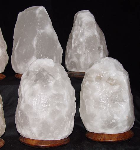white himalayan salt l white salt l himalayan large attached wood base 4 6kg
