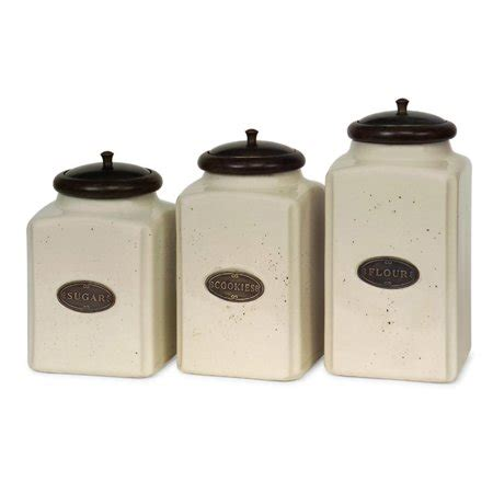 ceramic canisters for the kitchen set of 3 labeled ivory ceramic kitchen canisters with lids