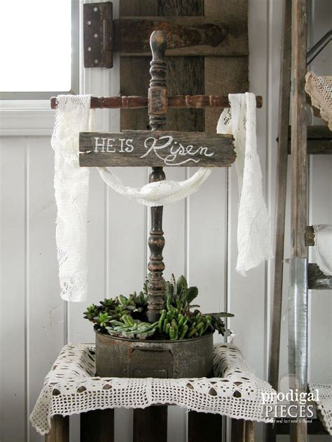 christian easter decorations rustic easter cross from reclaimed objects in 2019 todds