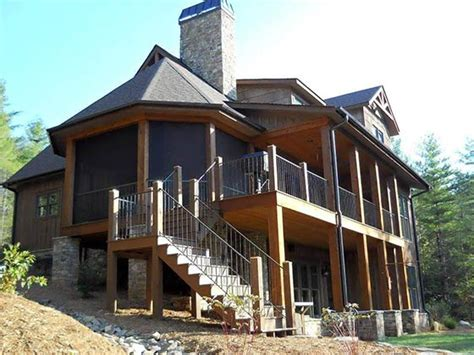 4 Bedroom Rustic House Plan With Porches