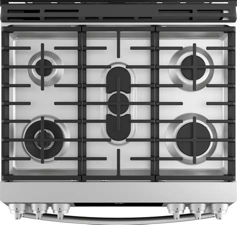 pgsselss ge profile    gas range convection  clean stainless steel