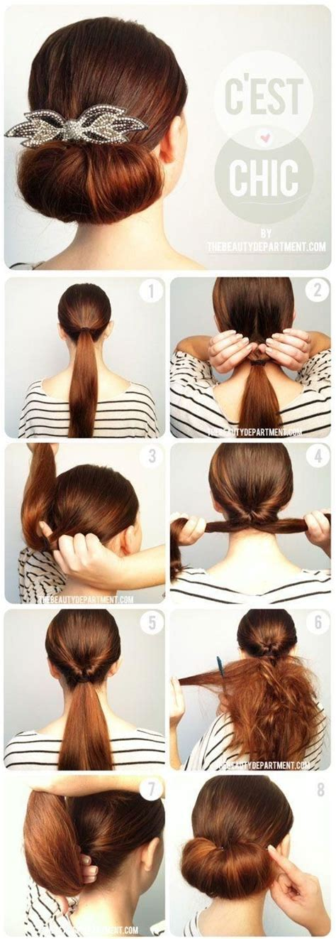 Easy Updo Hairstyle Tutorials by Twisted Flip Bun Updos Pictures Tutorial Easy Updo