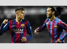 Ronaldinho vs Neymar Jr Best Skills FC Barcelona HD