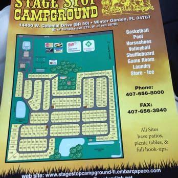 cing world winter garden fl stage stop cground rv parks 14400 w colonial dr