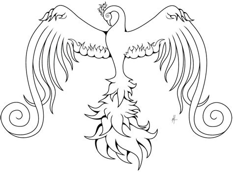 phoenix coloring page  getcoloringscom  printable colorings pages  print  color