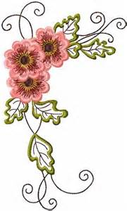 Vintage Flower Embroidery Designs