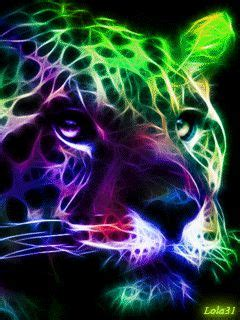 colorful neon leopard neon colors neon signs