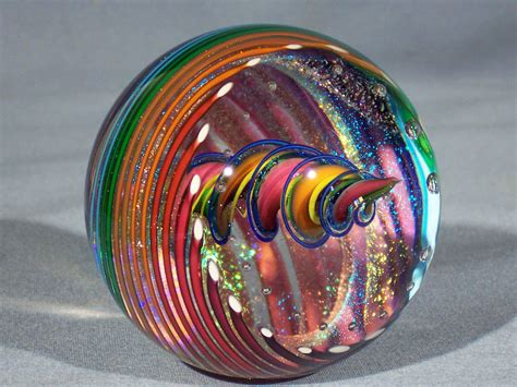 Marbles Hand Made Art Glass James Alloway Dichroic Marble