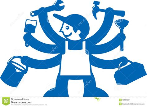 jack trades oficios clipart guy handel commerci tutti vector tous tool silar icone alle todos alla commerces outil vectoriel insieme