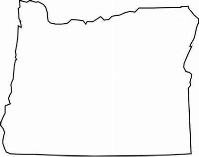 Oregon Outline Clipart Map Silhouette State Clip