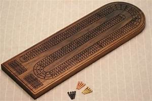 large deluxe 3 track cribbage board solid black walnut With cribbage board templates metal