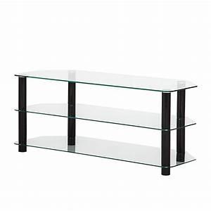 Tv Rack Glas : tv rack schwarz metall glas fernsehtisch lowboard tv hifi board rack regal neu ~ Yasmunasinghe.com Haus und Dekorationen