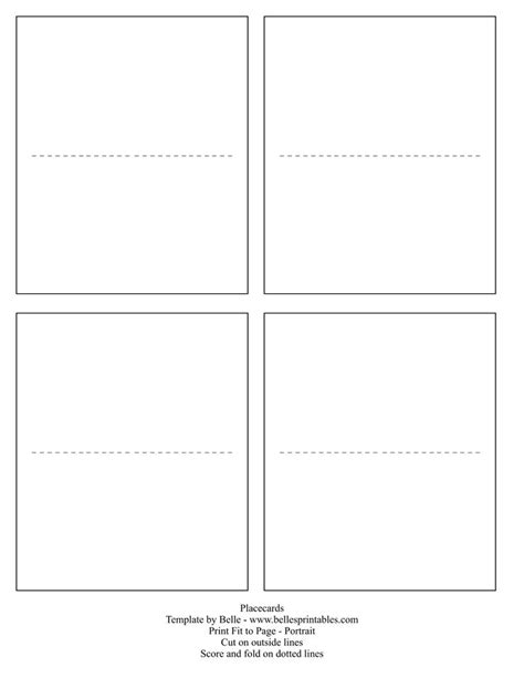 card template placecards  place card template