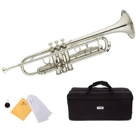 trumpet cecilio mendini trumpets mtt silver bb instruments musical gold amazon beginners valve instrument brass oil deal