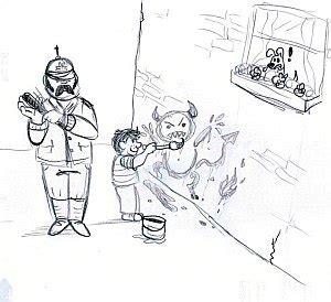 An Die Wand Malen by R 228 Tselbilder Zu Redewendungen Redensarten Net
