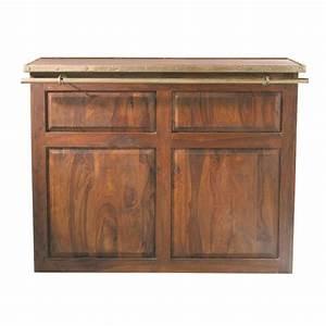 Bar En Bois : meuble de bar en bois de sheesham massif l 132 cm luberon maisons du monde ~ Teatrodelosmanantiales.com Idées de Décoration