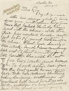 william f quotbuffalo billquot cody autograph letter signed With historical letters for sale