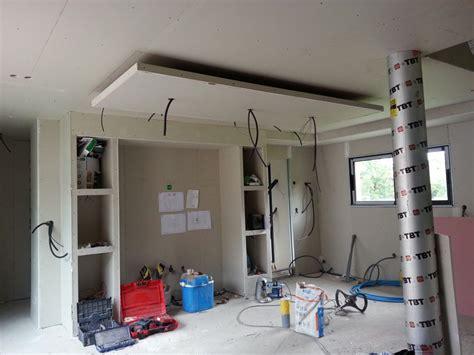 luminaire plafond cuisine photo quot coin cuisine finit avec le faux plafond un banddea
