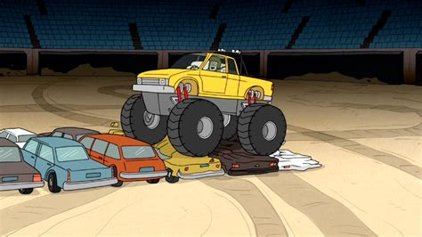 monster truck show tonight image s6e05 051 muscle man driving a monster truck png