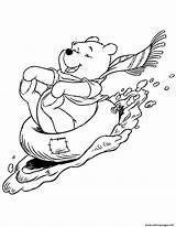 Coloring Pooh Winter Winnie Printable Sledding Colouring January Disney Bear Bird Watching Cliparts Sheets Clipart Adult Theme Colour Cartoon Clipartmag sketch template