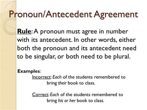 antecedent exle  images pronouns  antecedents