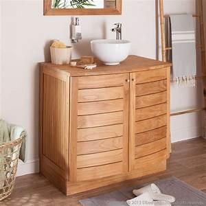 meuble salle de bain bois castorama With porte de douche coulissante avec meuble vasque salle de bain 60