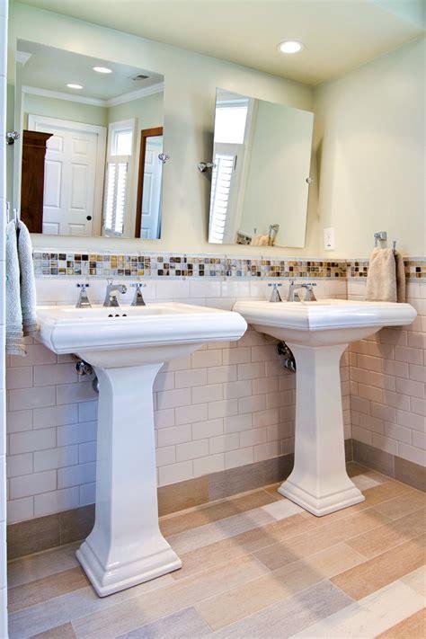 Kitchen Closet Organization Ideas - double pedestal sink bathroom contemporary with childrens bathhroom double pedestal