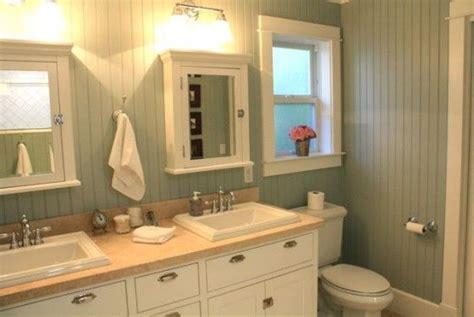 Beadboard Ceiling In Bathroom : Painted Beadboard On Bathroom Walls.