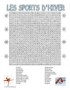 jeu de cuisine ecole de gratuit les sports d 39 hiver mots cachés winter sports