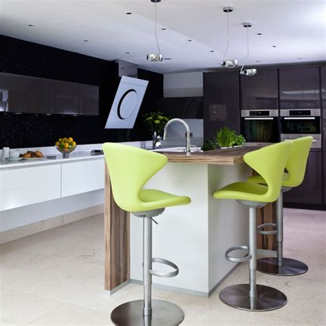 black and lime green kitchen lime green and black hi gloss kitchen housetohome co uk