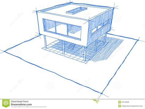 croquis de chambre croquis moderne de chambre illustration de vecteur image