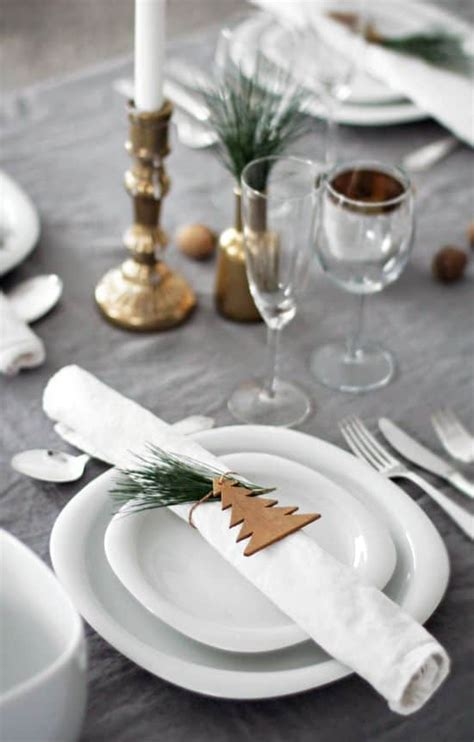 Decoration De Table Pour Noel Une D 233 Co De Table Tendance Pour No 235 L Save The Deco