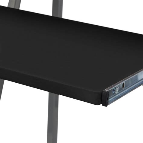 computer desk with pullout keyboard tray computer desk with pull out keyboard tray black vidaxl co uk