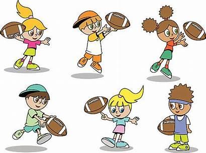 Football Playing Clip Illustration Vector Illustrations Cartoons