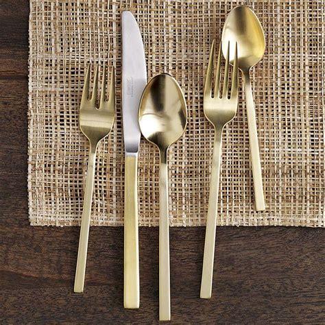 flatware everyday register table gold wedding