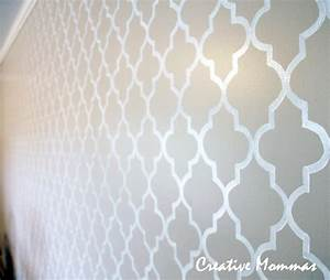 paint templates for walls - creative mommas stenciled wall