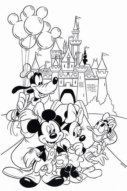 Disney Coloring Walt Pages Sheets Castle