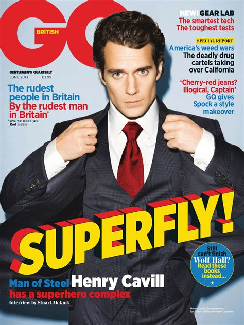 Henry Cavill on the Cover of British GQ Magazine's June ...