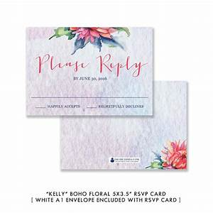 colorful watercolor bohemian floral wedding invitation With kelly paper wedding invitations